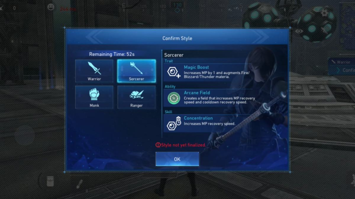 Final Fantasy The First Soldier monk abilities