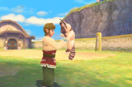 How to get to the cat in Skyloft in The Legend of Zelda: Skyward Sword HD