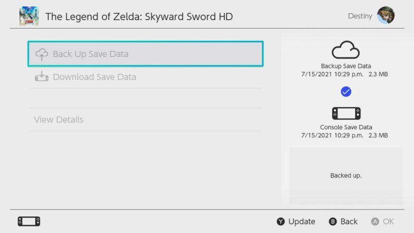 Nintendo Switch Cloud Saving