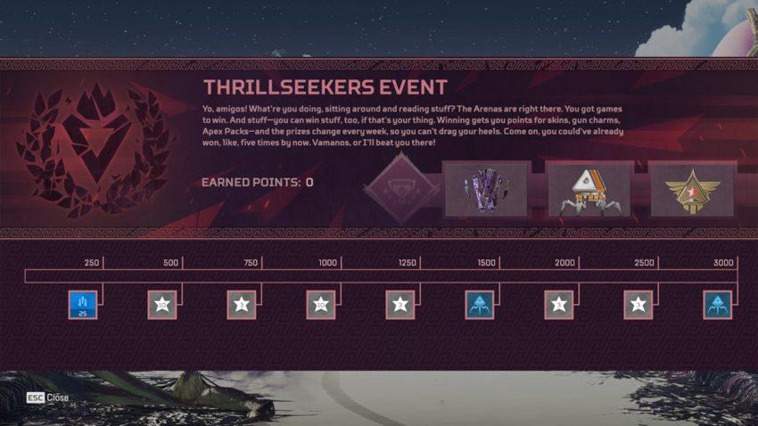 Thrillseekers Prize Tracker Week 2