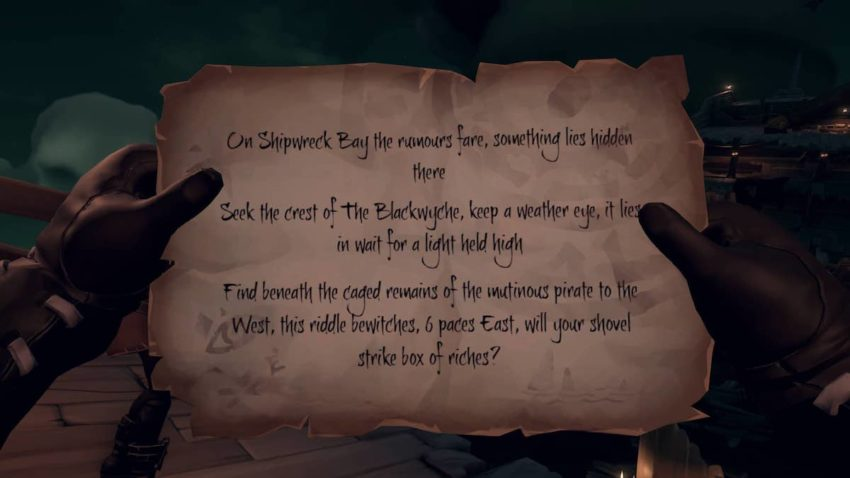 Sea of Thieves crest of the Blackwyche riddle
