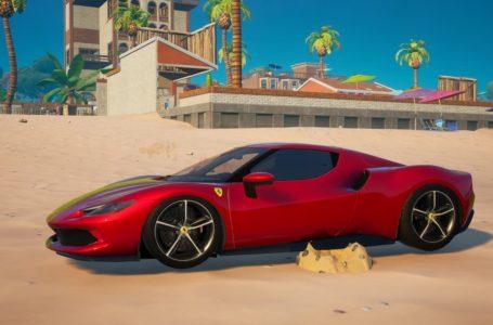 Where to find a Ferrari 296 GTB in Fortnite Chapter 2 Season 7