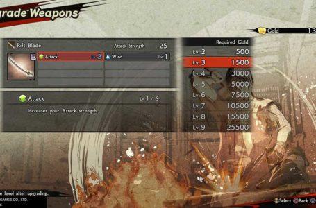 How to upgrade weapons in Samurai Warriors 5