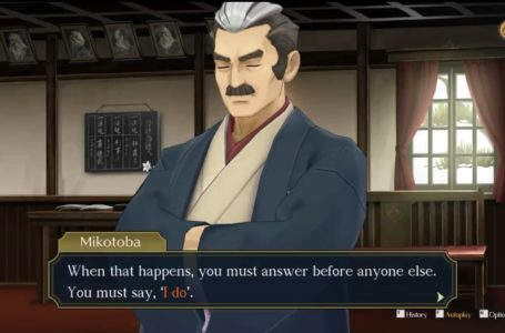 """Should you say """"I do"""" in Episode 1, The Adventure of the Great Departure – The Great Ace Attorney Chronicles"""