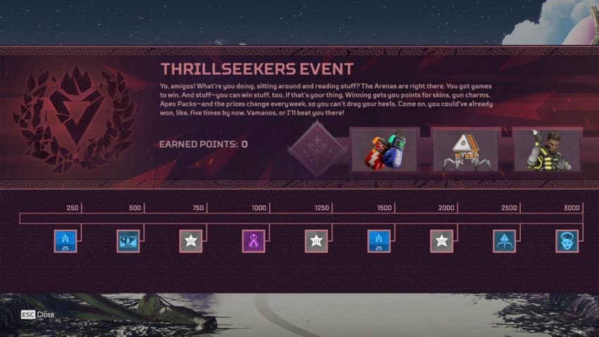 Thrillseekers Prize Tracker Week 3