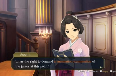 """How to complete The Adventure of the Runaway Room Summation Examination """"The Defence's Rebuttal"""" – The Great Ace Attorney Chronicles"""