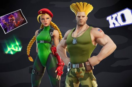Guile and Cammy from Street Fighter will be joining the Fortnite roster later this week