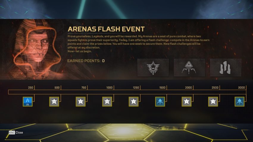 Arenas Flash Event 1 Prize Tracker S10