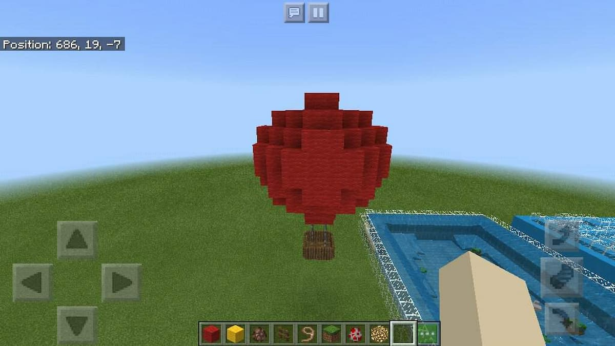 How to make balloon in Minecraft (1)