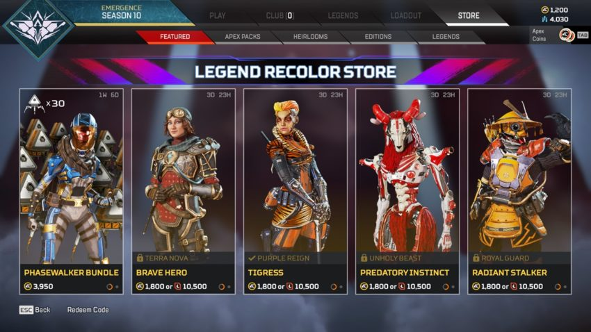 Legend Recolor Store