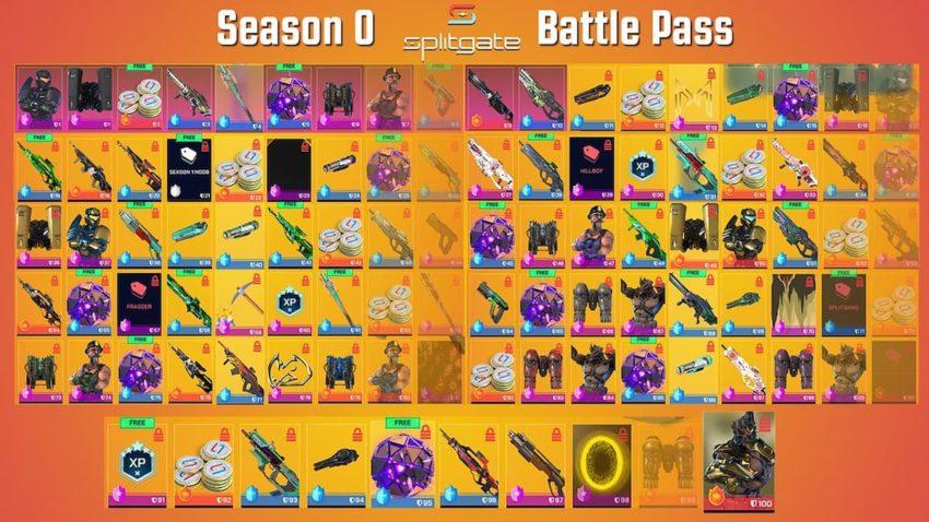Splitgate Season 0 Battle Pass