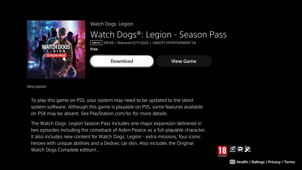 how-to-fix-watch-dogs-legion-season-pass-content-not-showing-on-ps5
