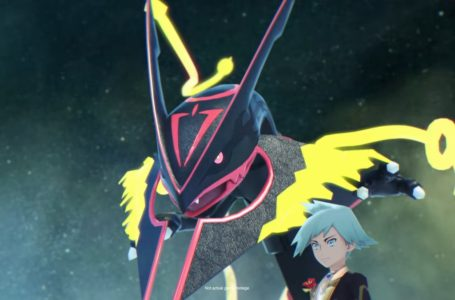 Anniversary Sync Pair Steven and Rayquaza moves in Pokémon Masters EX