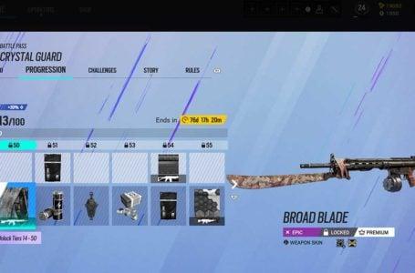 Best battle pass rewards in Rainbow Six Siege Operation Crystal Guard