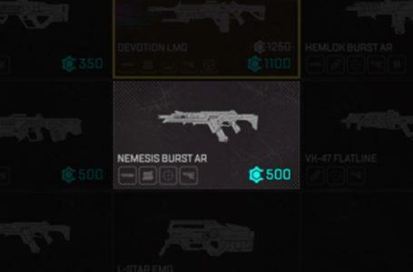What is the Nemesis Burst AR in Apex Legends?