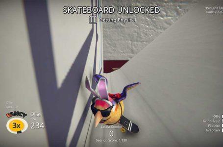 How to unlock new skateboards in Skatebird