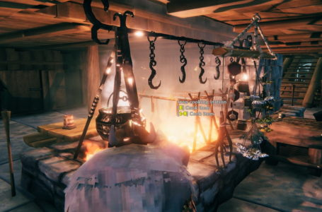 How to craft the iron cooking station in Valheim
