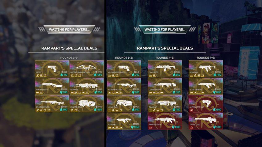Rampart's Special Deals