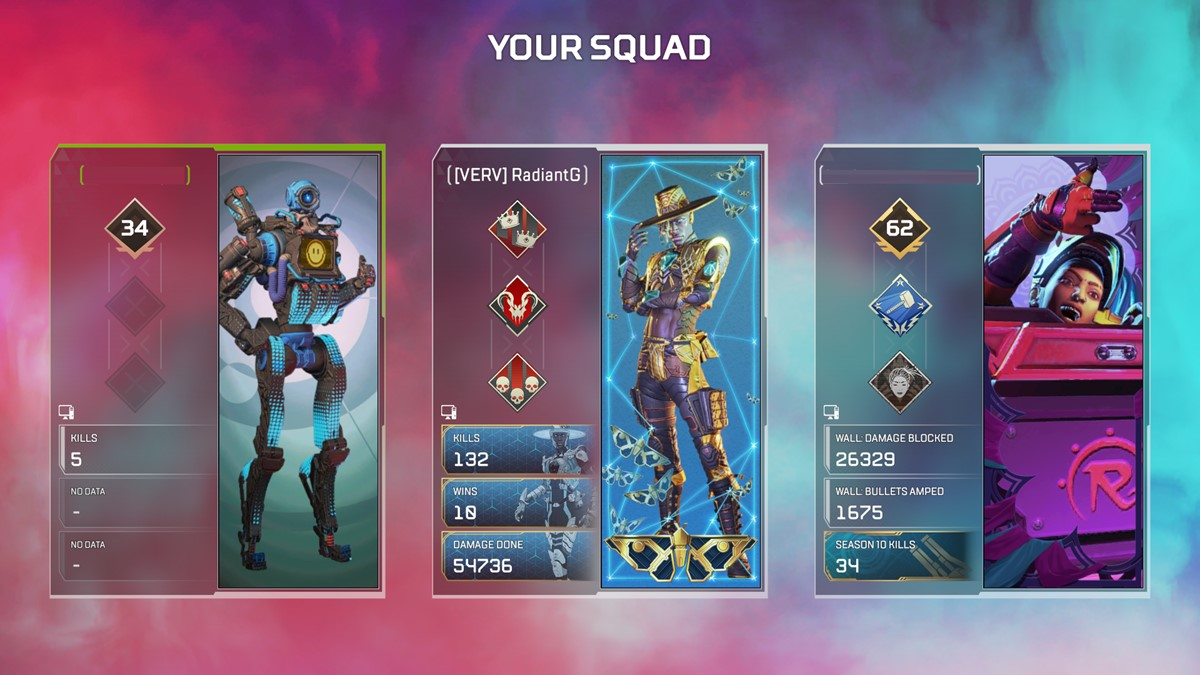 Your Squad screen