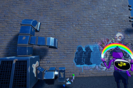 Where to emote in front of Shady Doggo at Retail Row, Believer Beach, or Steamy Stacks