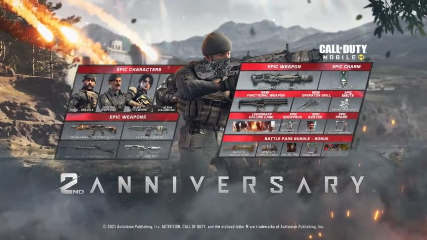 COD Mobile Season 8 Battle Pass free and premium rewards