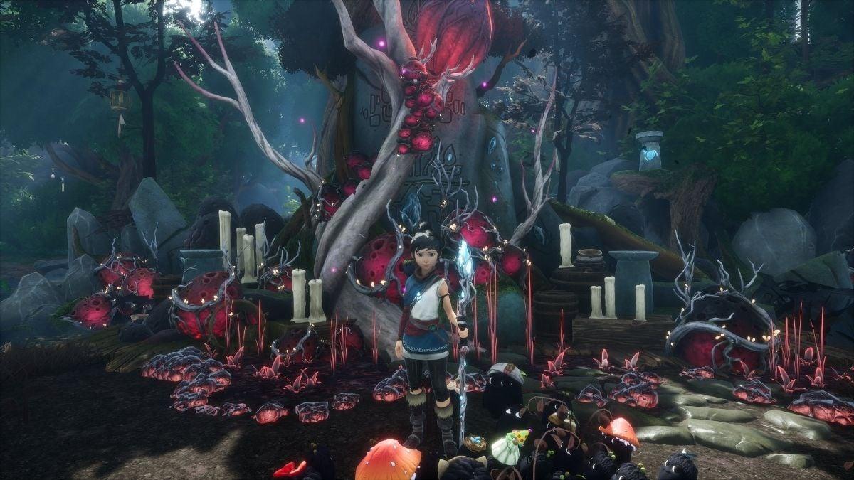 Kena-bridge-of-spirits-Forgotten-Forest-Fishing-Shrine-Puzzle-solution
