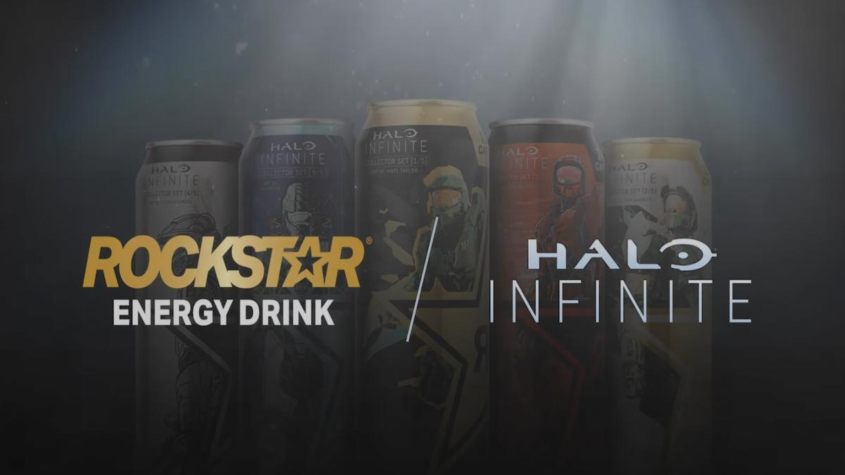Halo Infinite and Rockstar Energy Drink promotion