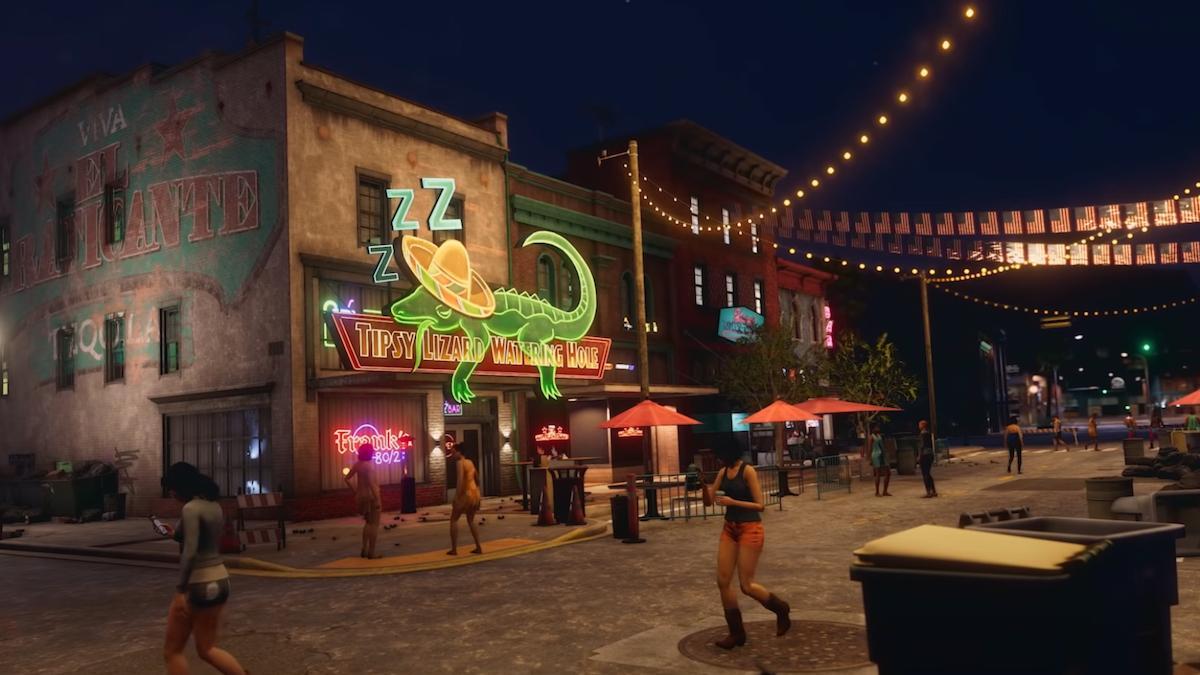 Screenshot of a street from Saints Row
