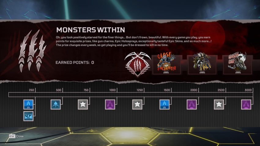 Monsters Within Prize Tracker Week 1
