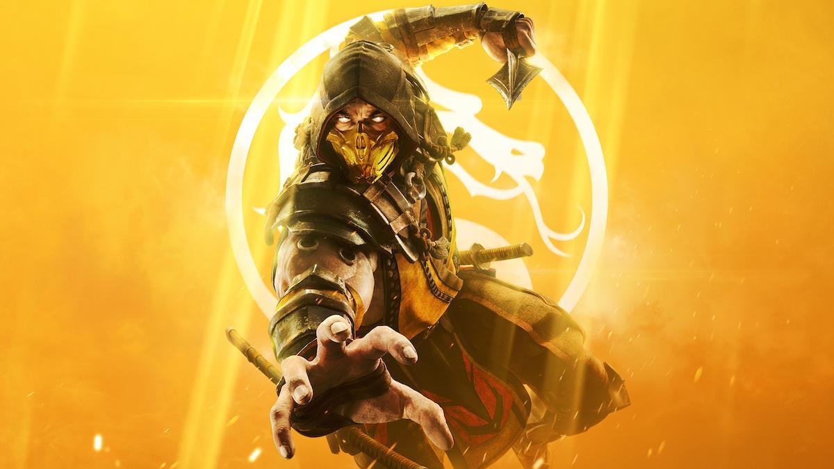 Key art from Mortal Kombat 11 Showing Scorpion