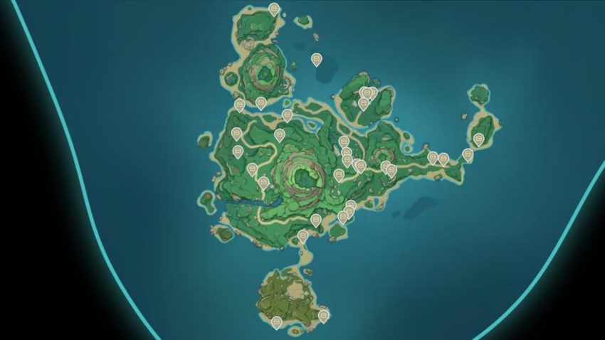 Genshin Impact All remarkable chests location in Tsurumi Island