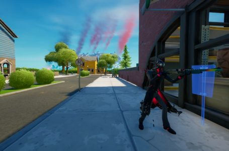 Where to place Ghostbuster signs in Holly Hedges, Dirty Docks, or Pleasant Park in Fortnite