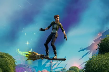 How to land while riding a witch's broom in Fortnite for Fortnitemares 2021