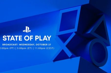 State of Play announced for next Wednesday, October 27